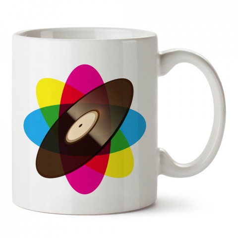 Cmyk Plak tasarım baskılı kupa bardak (mug). Retroculara ve retro severlere hediyelik kupa. Retro sevene en güzel hediye. Retro konulu tasarımlar.