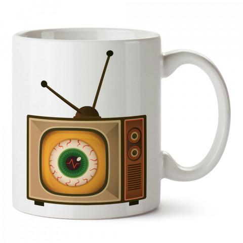 Koca Göz Televizyon tasarım baskılı kupa bardak (mug). Retroculara ve retro severlere hediyelik kupa. Retro sevene en güzel hediye. Retro konulu tasarımlar.