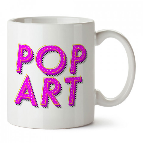 Mor Pop Art tasarım baskılı kupa bardak (mug). Retroculara ve retro severlere hediyelik kupa. Retro sevene en güzel hediye. Retro konulu tasarımlar.