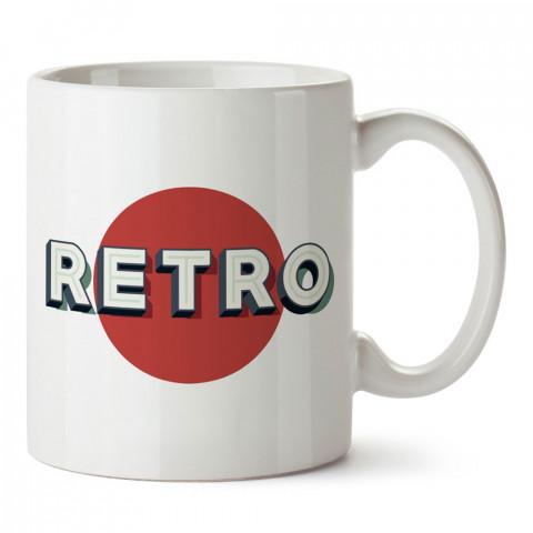 Retro Yazı tasarım baskılı kupa bardak (mug). Retroculara ve retro severlere hediyelik kupa. Retro sevene en güzel hediye. Retro konulu tasarımlar.