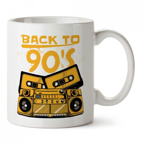 90lara Dönüş Teyp tasarım baskılı kupa bardak (mug). Müzisyenlere ve müzikseverlere hediyelik kupa. Müzik sevene özel hediye. Müzik konulu tasarımlar.