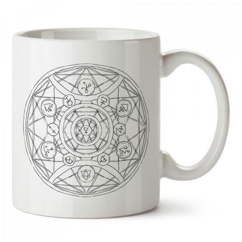 Kehanet Simyacı Çizim tasarım baskılı kupa bardak (mug bardak). En güzel baskılı kupa bardak çeşitleri. Tasarım kupa bardak çeşitleri. Hediye kupa. Kahve kupası.