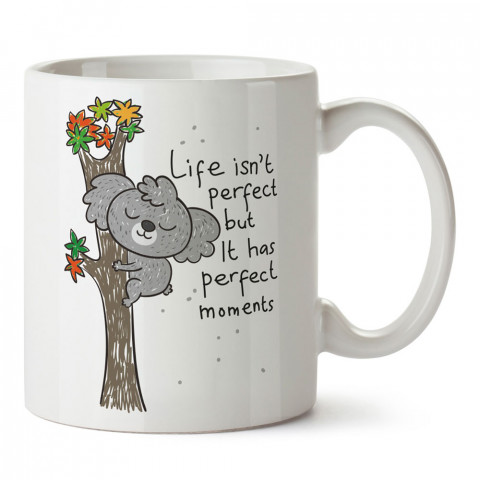 Mükemmel Anlar Var Koala tasarım baskılı kupa bardak (mug bardak). En güzel baskılı kupa bardak çeşitleri. Tasarım kupa bardak çeşitleri. Hediye kupa. Kahve kupası.