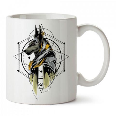 Anubis Köpek Tanrı tasarım baskılı kupa bardak (mug bardak). En güzel baskılı kupa bardak çeşitleri. Tasarım kupa bardak çeşitleri. Hediye kupa. Kahve kupası.