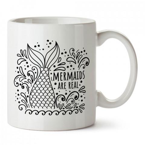 Deniz Kızları Gerçektir tasarım baskılı kupa bardak (mug bardak). En güzel baskılı kupa bardak çeşitleri. Tasarım kupa bardak çeşitleri. Hediye kupa. Kahve kupası.