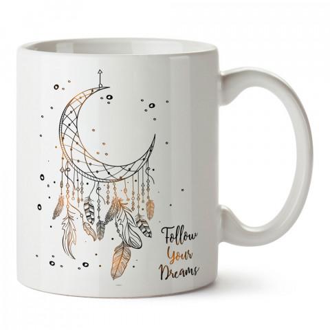 Hayallerini Takip Et Düş Kapanı baskılı kupa bardak (mug bardak). En güzel baskılı kupa bardak çeşitleri. Hayvansever kupa bardak modelleri. Hediye kupa. Kahve kupası.