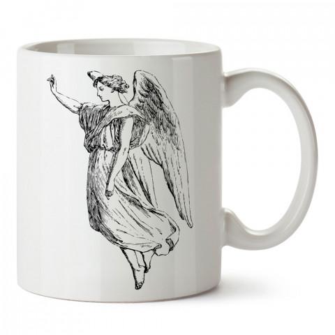 Kara Kalem Çizim Melek tasarım baskılı kupa bardak (mug bardak). En güzel baskılı kupa bardak çeşitleri. Tasarım kupa bardak modelleri. Hediye kupa. Kahve kupası.