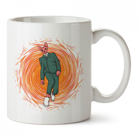 Takım Elbiseli Sfenks tasarım baskılı kupa bardak (mug bardak). En güzel baskılı kupa bardak çeşitleri. Tasarım kupa bardak modelleri. Hediye kupa. Kahve kupası.