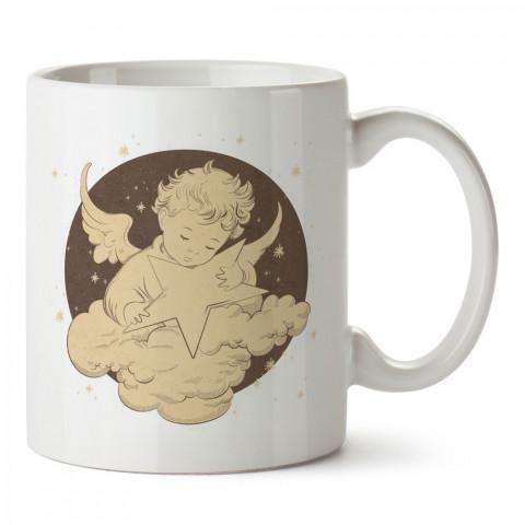 Gökyüzündeki Melek Bebek tasarım baskılı kupa bardak (mug bardak). En güzel baskılı kupa bardak çeşitleri. Tasarım kupa bardak modelleri. Hediye kupa. Kahve kupası.