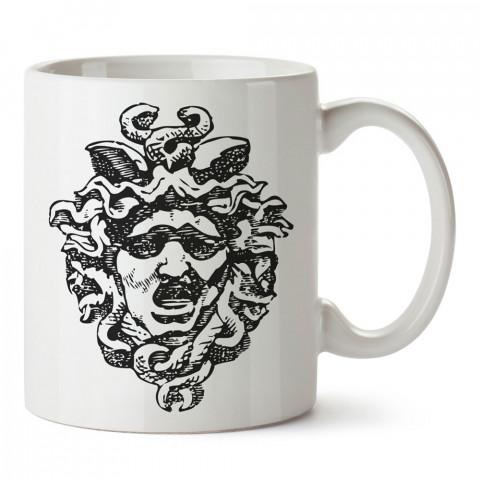 Medusa Silüet tasarım baskılı kupa bardak (mug bardak). En güzel baskılı kupa bardak çeşitleri. Tasarım kupa bardak modelleri. Hediye kupa. Kahve kupası.