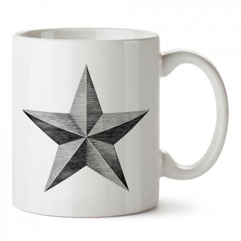 Çizim Yıldız Arma tasarım baskılı kupa bardak (mug bardak). En güzel baskılı kupa bardak çeşitleri. Tasarım kupa bardak modelleri. Hediye kupa. Kahve kupası.