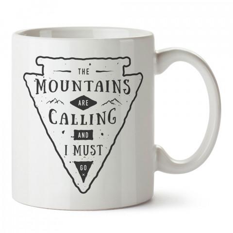 Gitmeliyim Dağlar Çağırıyor tasarım baskılı kupa bardak (mug bardak). Doğaseverlere en güzel baskılı kupa bardak çeşitleri. Kampçılara hediye kupa bardak modelleri.