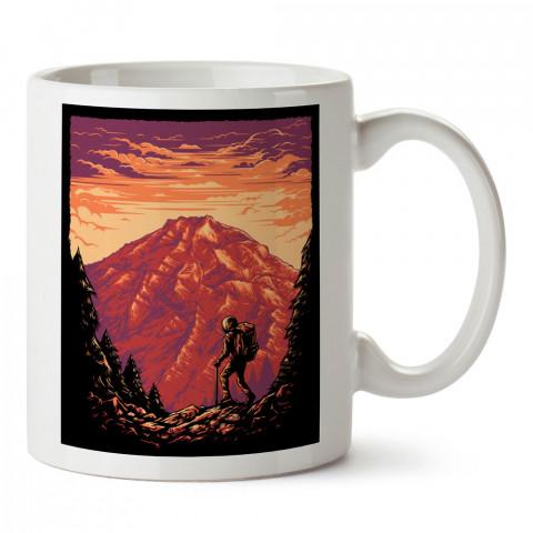 Dağlar Doğa Keşif ve Macera tasarım baskılı kupa bardak (mug bardak). Doğa ve maceraseverlere en güzel baskılı kupa bardak çeşitleri. Kampçılara hediye kupa modelleri.