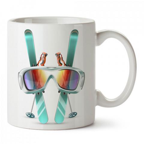 Kayak Takımları tasarım baskılı kupa bardak (mug bardak). Snowboardculara ve kayakçılara hediye kupa bardak modelleri. Kayak ve snowboard hediye.