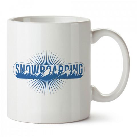Snowboarding Logo tasarım baskılı kupa bardak (mug bardak). Snowboardculara ve kayakçılara hediye kupa bardak modelleri. Kayak ve snowboard hediye.