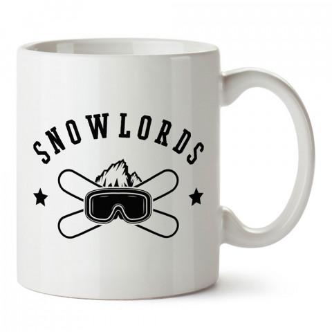 Snowlords Snowboard tasarım baskılı kupa bardak (mug bardak). Snowboardculara ve kayakçılara hediye kupa bardak modelleri. Kayak ve snowboard hediye.