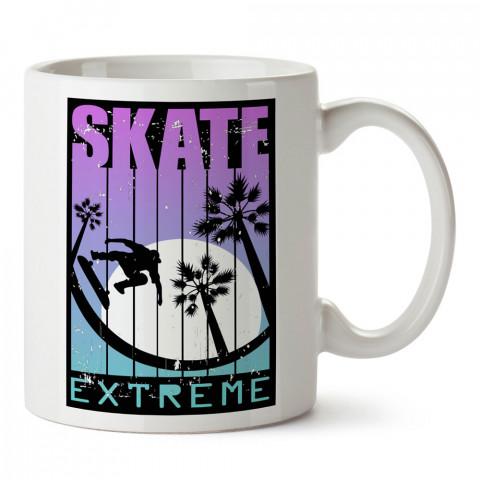 Extreme Kaykay tasarım baskılı kupa bardak (mug bardak). Kaykaycılara ve patencilere hediye kupa bardak modelleri. Patenciye ve kaykaycıya hediye.