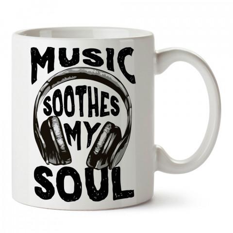 Müzik Ruhumu Yaşatıyor tasarım baskılı kupa bardak (mug bardak). Müzik konulu hediye kupa bardak modelleri. Müzisyenlere ve müzik tutkunlarına hediye.