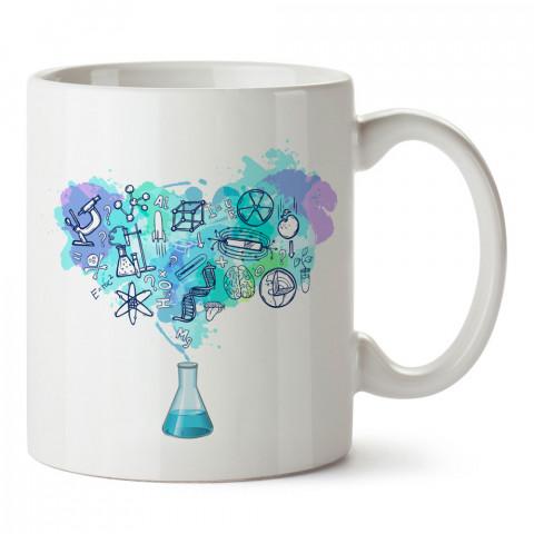 Kimya Bilim tasarım baskılı kupa bardak (mug bardak). Öğretmene hediye kupa bardak modelleri. Öğretmenlere hediye seçenekleri. Öğretmen kupası.