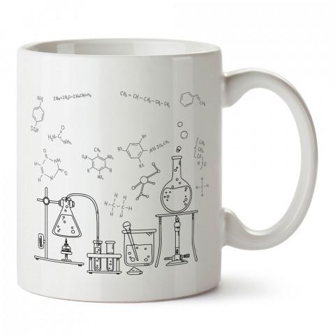 Moleküller ve Laboratuvar tasarım baskılı kupa bardak (mug bardak). Öğretmene hediye kupa bardak modelleri. Öğretmenlere hediye seçenekleri. Öğretmen kupası.