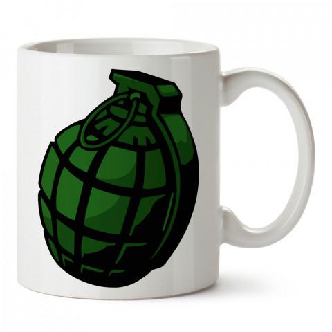 Yeşil El Bombası tasarım baskılı kupa bardak (mug bardak). Oyuncuya, Gamera hediye kupa bardak. Oyunculara hediye seçenekleri. Oyunseverlere kupa bardak.