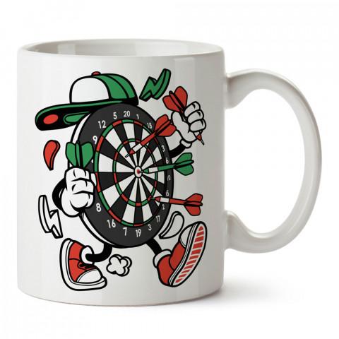 Yürüyen Dart Tahtası tasarım baskılı kupa bardak (mug bardak). Oyuncuya, Gamera hediye kupa bardak. Oyunculara hediye seçenekleri. Oyunseverlere kupa bardak.