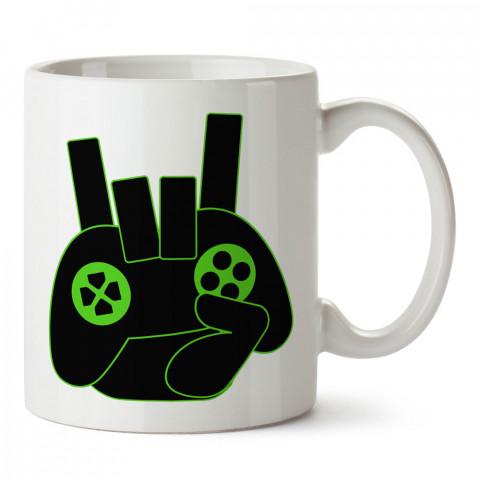 Rock And Roll Joystick tasarım baskılı kupa bardak (mug bardak). Oyuncuya, Gamera hediye kupa bardak. Oyunculara hediye seçenekleri. Oyunseverlere kupa bardak.
