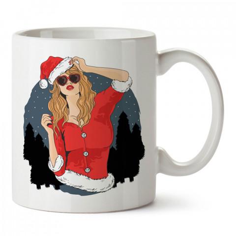 Noel Anne Yılbaşı tasarım baskılı kupa bardak (mug bardak). Yılbaşı hediyesi kupa. En güzel yılbaşı hediyeleri. Yeni yıl için hediyelik ürünler. Yılbaşı tasarım.