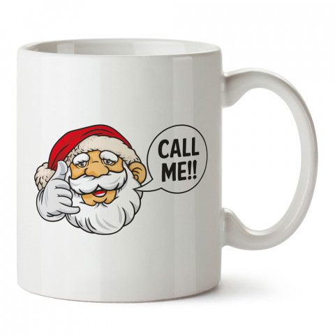Noel Baba Beni Ara tasarım baskılı kupa bardak (mug bardak). Yılbaşı hediyesi kupa. En güzel yılbaşı hediyeleri. Yeni yıl için hediyelik ürünler. Yılbaşı tasarım.