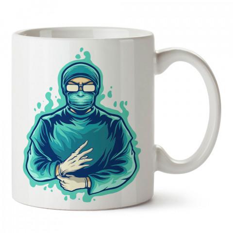 Süper Kahraman Doktor tasarım baskılı kupa bardak (mug). Doktorlara ve hemşirelere hediyelik kupa bardak. Sağlık çalışanlarına özel hediye. Sağlıkçılara kupa bardak.