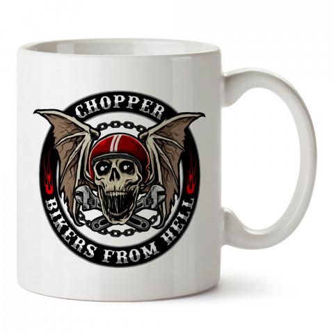 Chopper Kuru Kafa Motosiklet tasarım baskılı kupa bardak (mug). Motosikletçilere en güzel hediye kahve kupası. Motorcuya hediyelik ürünler.