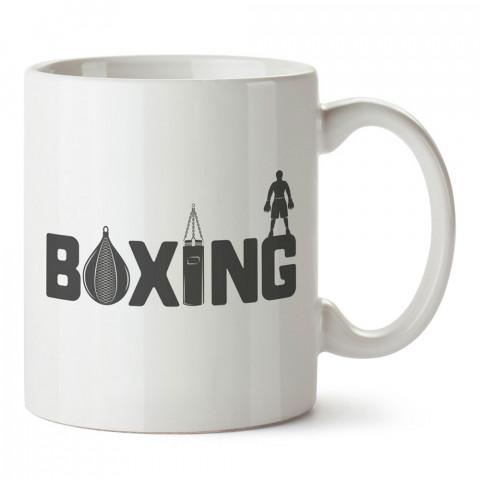 Boxing Boks tasarım baskılı kupa bardak. Boks temalı kahve kupası. Boksöre hediye mug. Dövüşçüye hediye kupa bardak.